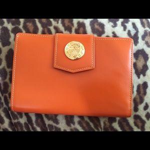 5b831ff1d646 Bags - Louis Feraud Orange Wallet